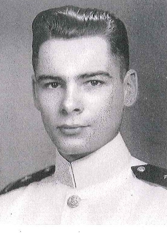 Photo of Rear Admiral Tyler F. Dedman copied from page 173 of the 1947 edition of the U.S. Naval Academy yearbook 'Lucky Bag'.