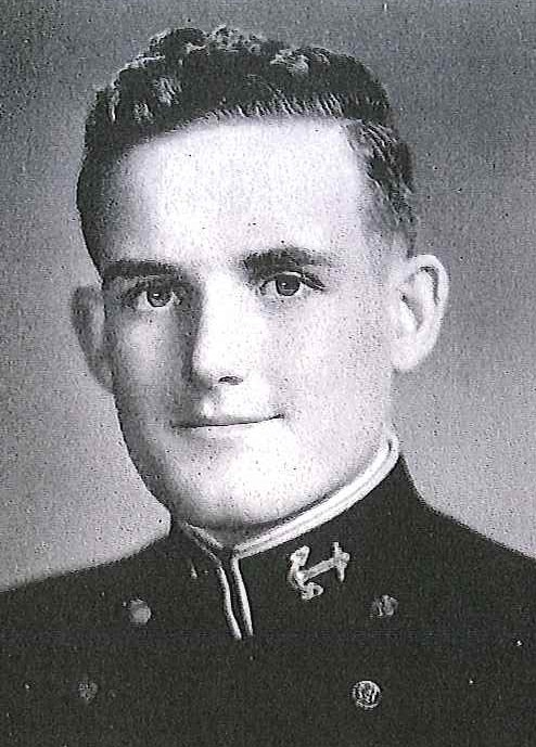 Photo of Rear Admiral Walter Dedrick copied from page 186 of the 1944 edition of the U.S. Naval Academy yearbook 'Lucky Bag'.