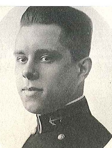 Photo of Captain Thomas M. Dell, Jr. copied from page 459 of the 1921 edition of the U.S. Naval Academy yearbook 'Lucky Bag'.