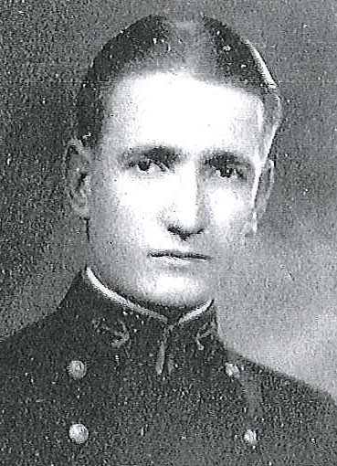 Photo of Rear Admiral Jefferson R. Dennis copied from page 78 of the 1930 edition of the U.S. Naval Academy yearbook 'Lucky Bag'.