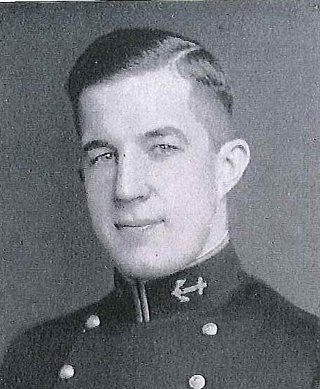 Photo of Captain William N. Deragon copied from page 157 of the 1934 edition of the U.S. Naval Academy yearbook 'Lucky Bag'.