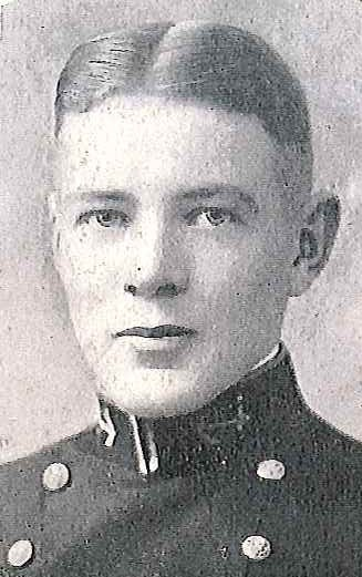Photo of Captain John L. DeTar copied from page 258 of the 1927 edition of the U.S. Naval Academy yearbook 'Lucky Bag'.
