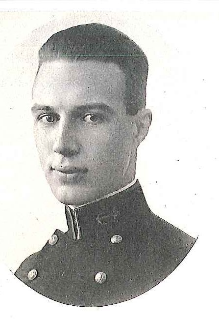 Photo of Captain August J. Detzer, Jr. copied from page 379 of the 1921 edition of the U.S. Naval Academy yearbook 'Lucky Bag'.