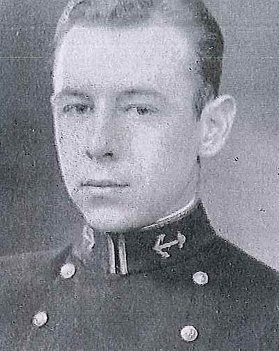Photo of Captain Irvin L. Dew copied from page 253 of the 1933 edition of the U.S. Naval Academy yearbook 'Lucky Bag'.