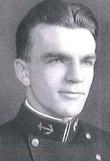 Photo of Captain Frederick G. Dierman copied from page 145 of the 1938 edition of the U.S. Naval Academy yearbook 'Lucky Bag'.