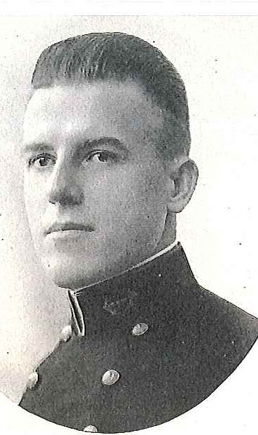 Photo of Captain Melville Edwin Eaton copied from page 427 of the 1921 edition of the U.S. Naval Academy yearbook 'Lucky Bag'.