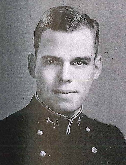 Photo of Lcdr. William G. Eaton copied from page 119 of the 1944 edition of the U.S. Naval Academy yearbook 'Lucky Bag'.