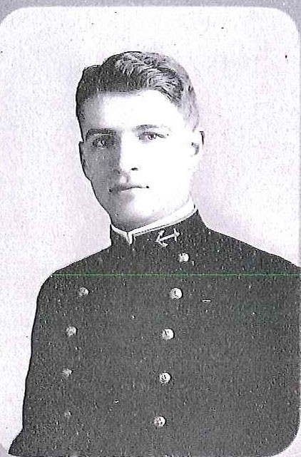 Photo of Rear Admiral Campbell D. Edgar copied from page 106 of the 1912 edition of the U.S. Naval Academy yearbook 'Lucky Bag'.