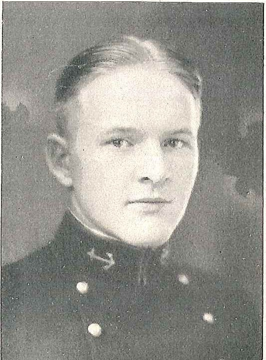 Photo of Lieutenant Commander Heywood L. Edwards copied from page 444 of the 1926 edition of the U.S. Naval Academy yearbook 'Lucky Bag'.