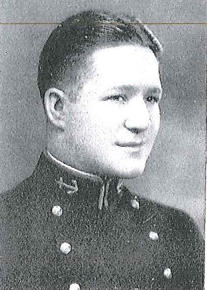 Photo of Captain John E. Edwards copied from page 255 of the 1930 edition of the U.S. Naval Academy yearbook 'Lucky Bag'.