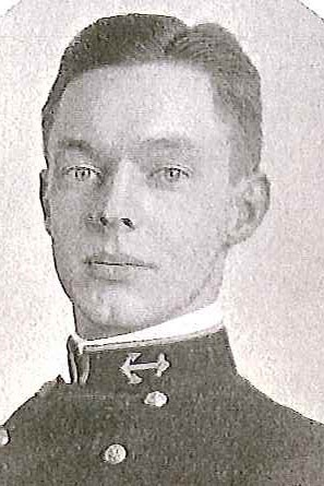 Photo of Lieutenant Commander Walter A. Edwards copied from page 94 of the 1910 edition of the U.S. Naval Academy yearbook 'Lucky Bag'.