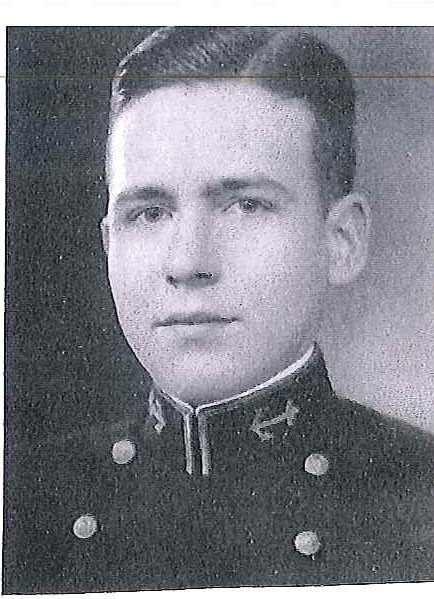 Photo of Captain James M. Elliott copied from page 82 of the 1933 edition of the U.S. Naval Academy yearbook 'Lucky Bag'.