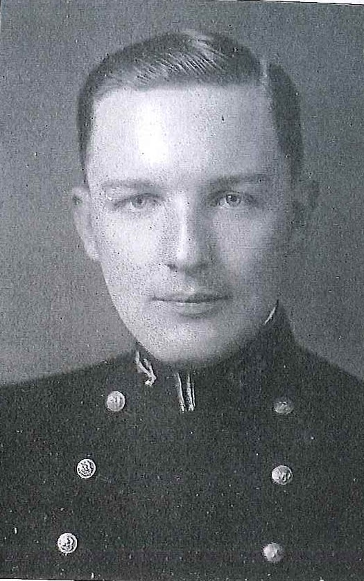 Photo of Captain William A. Ellis copied from page 83 of the 1936 edition of the U.S. Naval Academy yearbook 'Lucky Bag'.