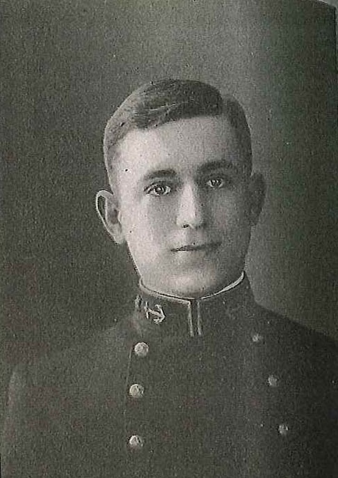 Photo of Rear Admiral Edward Ellsberg copied from page 200 of the 1914 edition of the U.S. Naval Academy yearbook 'Lucky Bag'.
