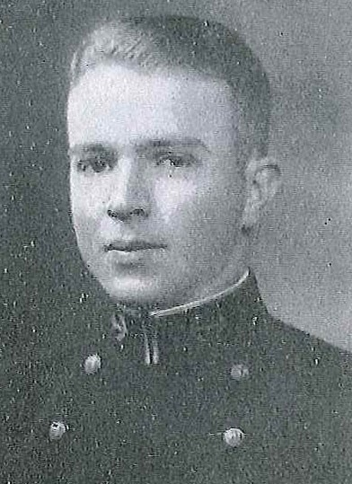 Photo of Captain Robert J. Esslinger copied from page 87 of the 1930 edition of the U.S. Naval Academy yearbook 'Lucky Bag'.