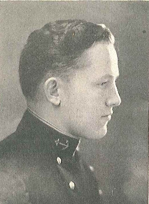 Photo of Captain Marvin P. Evenson copied from page 440 of the 1926 edition of the U.S. Naval Academy yearbook 'Lucky Bag'.