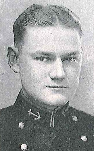 Photo of Captain John L. Ewing copied from page 361 of the 1927 edition of the U.S. Naval Academy yearbook 'Lucky Bag'.