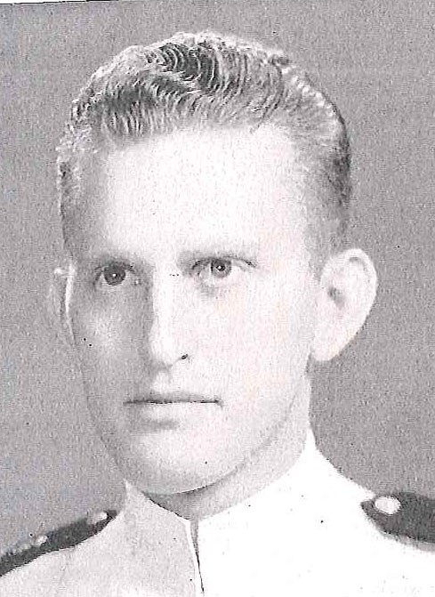 Photo of Captain Miles R. Finley, Jr. copied from page 314 of the 1942 edition of the U.S. Naval Academy yearbook 'Lucky Bag'.