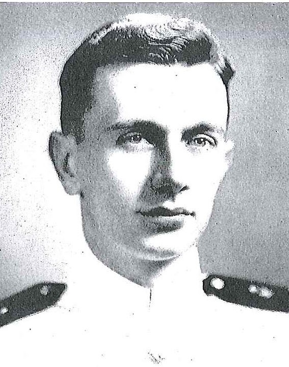 Photo of Rear Admiral John R. Fisher copied from page 219 the 1946 edition of the U.S. Naval Academy yearbook 'Lucky Bag'.