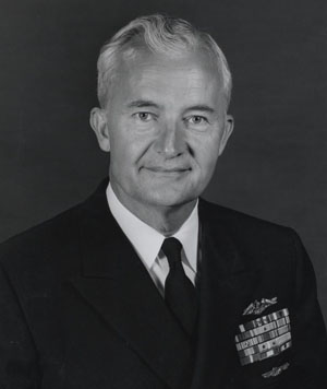 Admiral Ignatius J. Galantin, USN, while Chief of Naval Material, May 1966. Naval History and Heritage Command, Photographic Section People File.