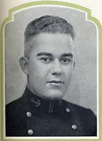 Midshipman Edmund E. Garcia, USN. Halftone reproduction of a photograph, scanned from the official publication, The Lucky Bag 1927.