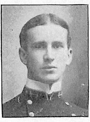 Photo of Fleet Admiral Ernest J. King copied from page 35 of the 1901 edition of the U.S. Naval Academy yearbook 'Lucky Bag'.