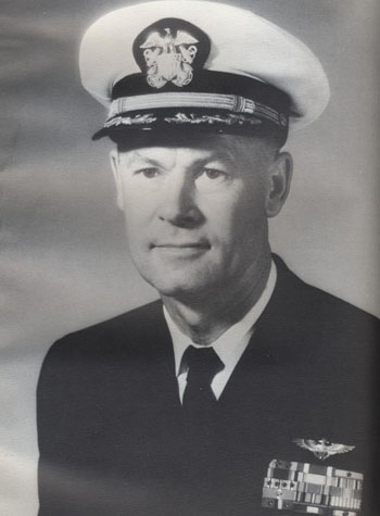 Vice Admiral Kent Liston Lee, USN - Image from USS Enterprise 1968 cruise book, page 180.