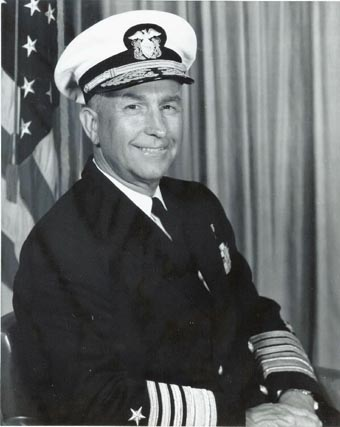 Admiral Thomas H. Moorer, USN - photographed circa the mid 1960s, while he was serving as Supreme Allied Commander, Atlantic. Naval Historical Center, Photographic Section, #NH104887.