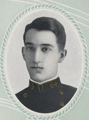 Image of Captain Eugene T. Oates, from the 1911 Lucky Bag, page 190.