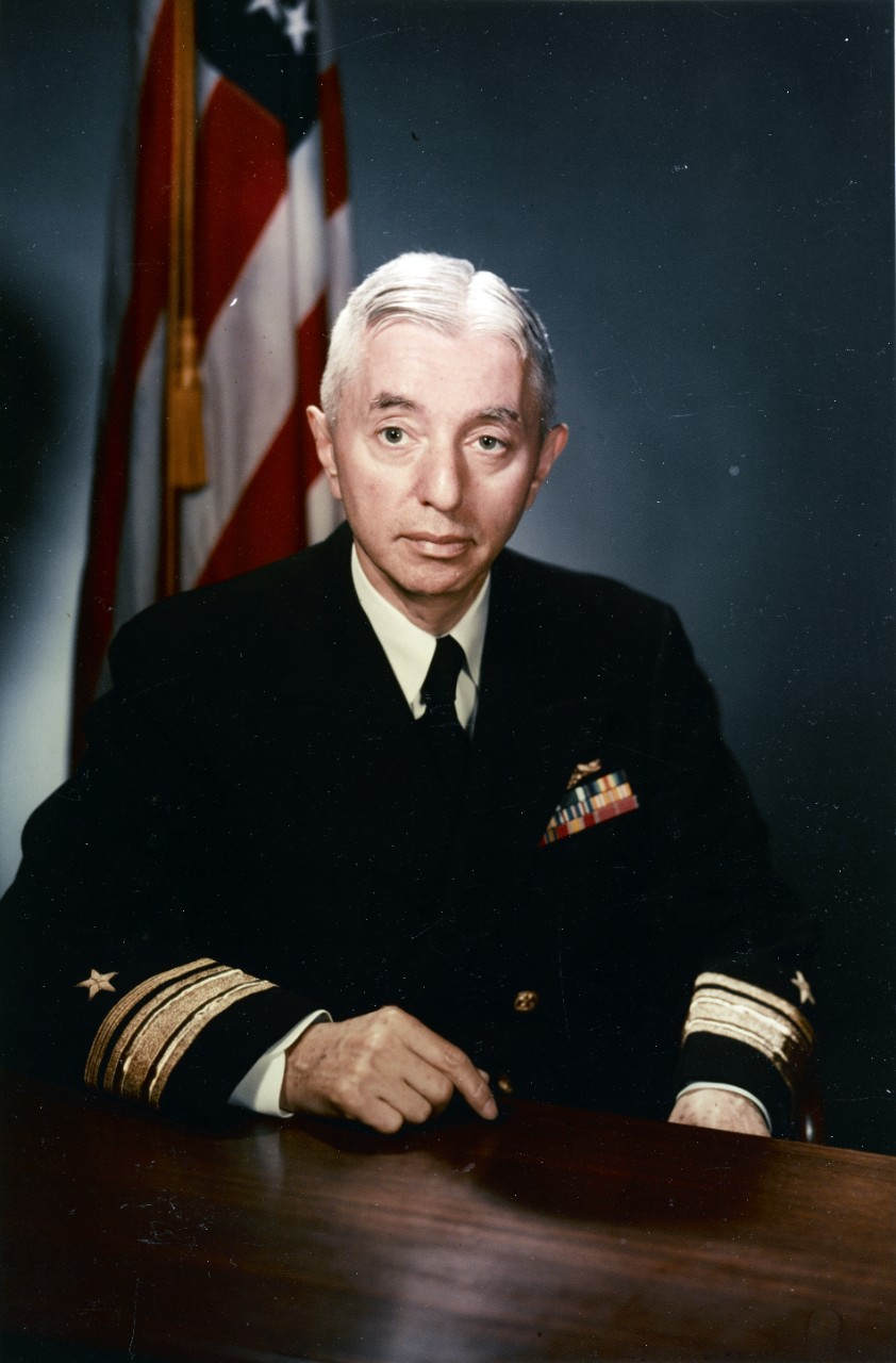 Image of Admiral Rickover in Navy Uniform