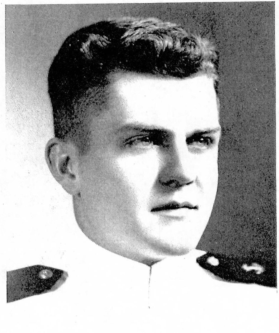 Photo of Rear Admiral James B. Stockdale copied from page 278 of the 1947 edition of the U.S. Naval Academy yearbook 'Lucky Bag'.