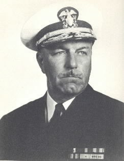 Rear Admiral Mahlon S. Tisdale, USN. Portrait taken at Pearl Harbor in 1943, while he was Com. CruDesPAC. Photograph by Maurice Constant, who was sent by BuPers to the Pacific to photograph Flag Officers. Naval Historical Center Photographic Section #NH88353.