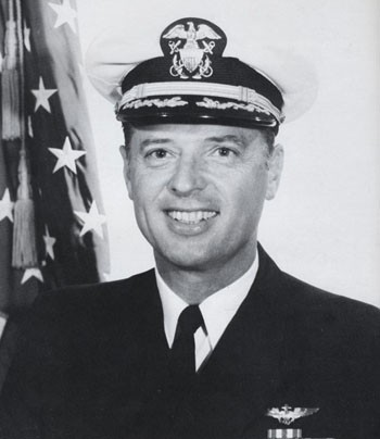 Rear Admiral Ernest E. Tissot, USN - Image from USS Enterprise 1973 cruise book, page 258.