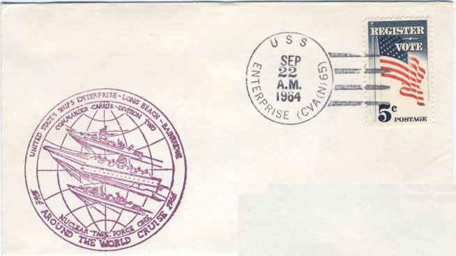 U.S.S. Enterprise CVA(N)-65, Ship Cancellation, 22 Sep 1964.