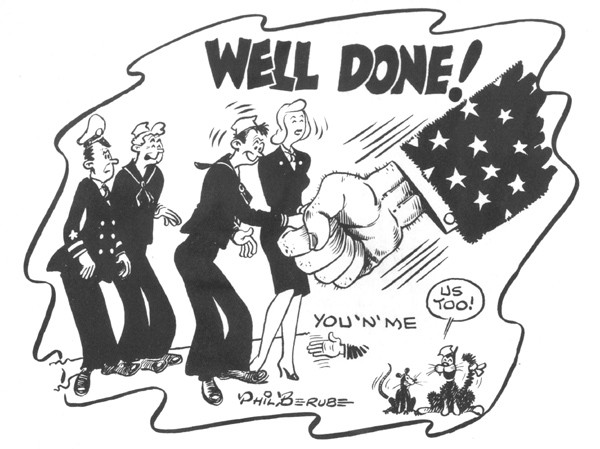 """Well Done!"" cartoon"