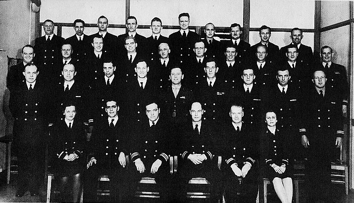 OFFICERS ON BOARD OCTOBER 1944