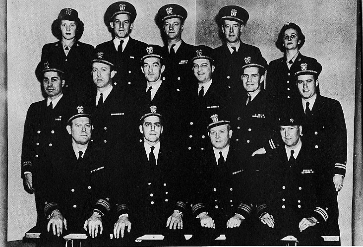 OFFICERS ON BOARD JANUARY 1946