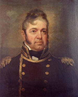 "Commodore William Bainbridge, USN (1774-1833). Oil on wood, 30"" by 21"", by John Wesley Jarvis (1780-1840). Painted circa 1814.Painting in the U.S. Naval Academy Museum Collection. Transferred from the U.S. Naval Lyceum, 1892. Official U.S. Navy Photograph. Naval History & Heritage Command Photographic Section: Photo #: KN-1365 (Color)."