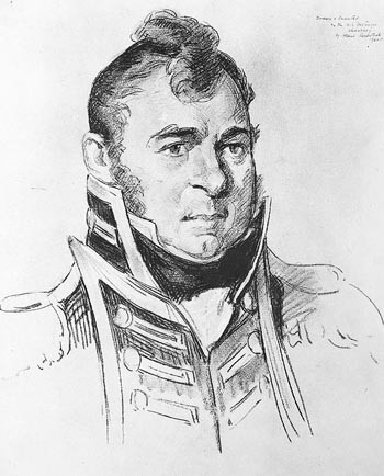 Drawing of Commodore Isaac Chauncey, USN., by Albert Rosenthal.