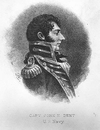 Engraving of Captain John Herbert Dent, USN.