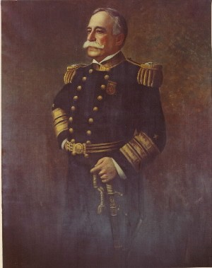 "Admiral George Dewey, USN. Oil On Canvas, 72""x48"", by N.M. Miller (20th C.), painted 1911. Naval Historical Center, Photographic Branch, #KN10926"