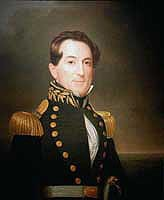 Lieutenant David G. Farragut, USN - Painting by William Swain. U.S. National Archives Photograph.