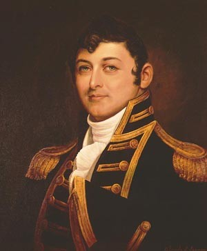 Captain Isaac Hull, USN (1773-1843) Portrait by Orlando S. Lagman, after Gilbert Stuart, 1967. Courtesy of the U.S. Navy Art Collection, Washington, D.C. U.S. Naval Historical Center Photograph. Photo #: NH 48939-KN (color).