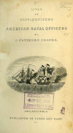 Plate from Lives of Distinguished American Naval Officers by J. Fenimore Cooper, 1846.
