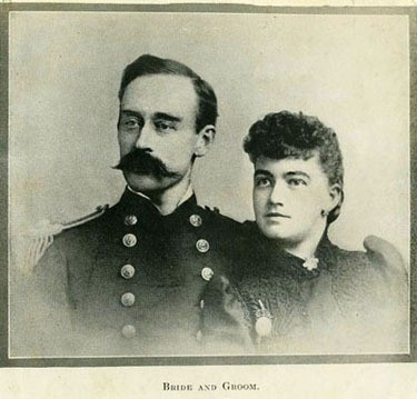 Lieutenant Robert E. Peary, USN, a circa 1888 photograph captioned 'Bride and Groom.' He was married in 1888 to the former Josephine Biebitsch. The photo was used in the book 'Peary, the man who refused to fail,' by Fitz-hugh Green, 1926. Naval History & Heritage Command, Photographic Section. #NH47456