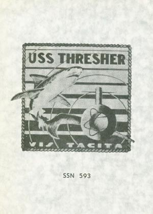 Image of USS Thresher brochure cover