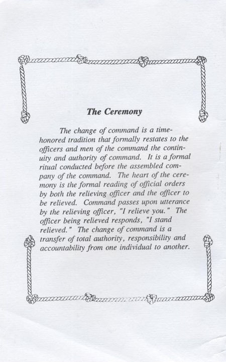 Page describing ceremony.
