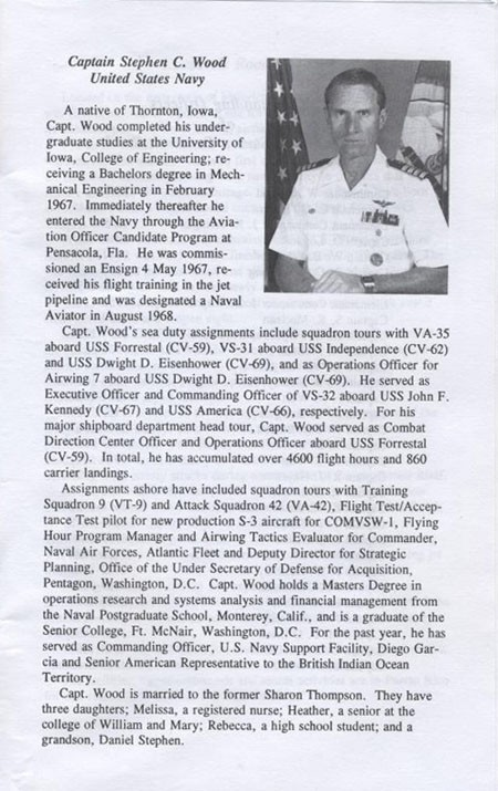 Biography of Captain Stephen C. Wood, United States Navy.