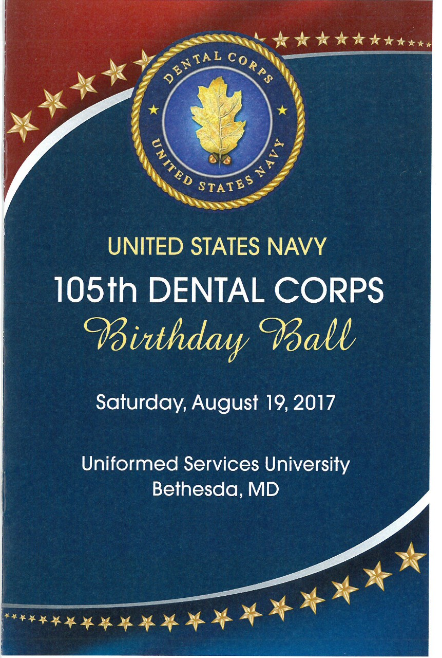 Jacket Cover of 'United States Navy 105th Dental Corps Birthday Ball.'  program dated 19 August 2017