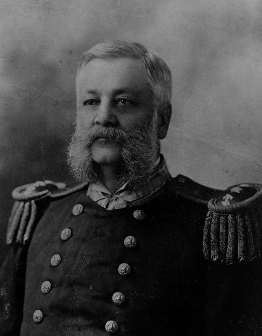 A picture of Commodore John A. Howell who commanded the northern blockade of Cuba.